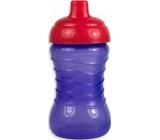 First Steps Spill Proof Sipper Cup láhev nekapající pro děti 12+ fialová 310 ml