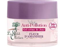 Le Petit Olivier Mandlový květ denní pleťový gelový krém pro citlivou pleť 50 ml