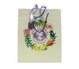 Jeanne en Provence Dárková papírová taška malá 14 x 19 cm bílá s logem