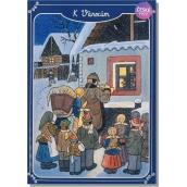 Albi Hracie prianie do obálky K Vianociam Lada Šťastie, zdravie, pokoj svätý 15 x 21 cm