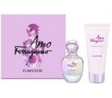 Salvatore Ferragamo Amo Ferragamo Flowerful toaletná voda pre ženy 50 ml + telové mlieko 100 ml, darčeková sada