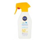 Nivea Sun Kids F50 + Sensitive opaľovací vodeodolný neparfumovaný sprej 300 ml