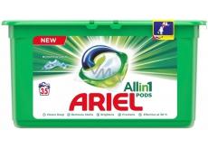 Ariel 3v1 Mountain Spring gélové kapsule na pranie bielizne 35 kusov 945 g