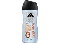 Adidas Total Relax 3v1 sprchový gél na telo, tvár a vlasy pre mužov 250 ml