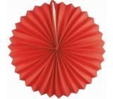 Lampión guľatý červený 25 cm