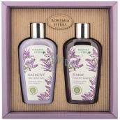Bohemia Gifts Lavender sprchový gél 250 ml + vlasový šampón 250 ml, kozmetická sada