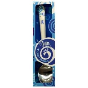 Nekupto Twister Lyžička s menom Jan modrá 16 cm