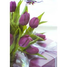 Nekupto Dárková papírová taška největší 46 x 33 x 10,5 cm Tulipány 1 kus 872 40 BXL