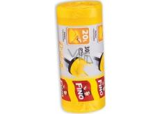 Fino Color Sáčky do odpadkového koše s uchy žluté 20 litrů, 44 x 50 cm, 15 µm, 30 kusů