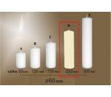 Lima Gastro hladká sviečka slonová kosť valec 60 x 220 mm 1 kus