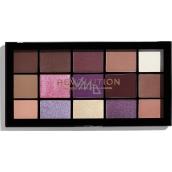 Makeup Revolution Re-Loaded paletka očných tieňov Visionary 15 x 1,1 g