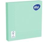Aha Papierové obrúsky jednofarebné 3 vrstvové 33 x 33 cm 20 kusov zelenej