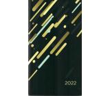 Albi Diár 2022 Vreckový dvojtýždenná Čierny 15,5 x 8,5 x 0,5 cm