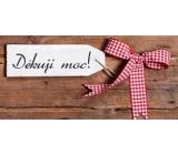 Bohemia Gifts & Cosmetics Mliečna čokoláda Ďakujem, darčeková 100 g