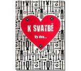 Albi Hracie prianie do obálky K svadbe Skrutky a matice Mandrage 14,8 x 21 cm