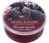 Heart & Home Šťavnaté moruše Sojová vonná svíčka v mističce hoří až 12 hodin 36 g