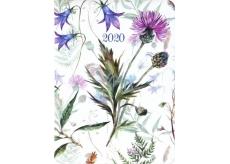 Albi Diár 2020 denný Lúčne kvety 17 x 12,6 x 2,4 cm
