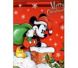 Nekupto Darčeková papierová taška veľká 33 x 26 x 13 cm Vianočný Mickey Mouse 1188 WLGL