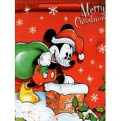 Nekupto Darčeková papierová taška 33 x 26 x 13 cm Vianočný Mickey Mouse 1188 WLGL