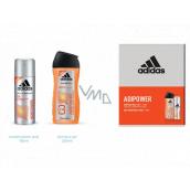 Adidas Adipower antiperspirant deodorant sprej pre mužov 150 ml + sprchový gél 250 ml, kozmetická sada