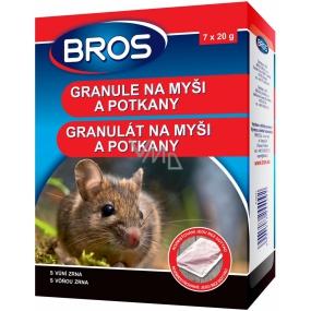 Bros Na myši a potkany granule 7 x 20 g