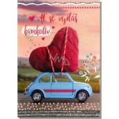Albi Hracie prianie do obálky Z lásky Srdce na autíčku Aj ll by There For You 14,8 x 21 cm