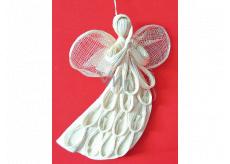 Anjel Abaca letiaci plochý s oblúčiky na zavesenie 20 cm