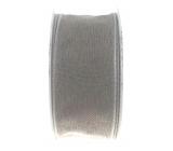 Ditipo Stuha látková s drôtikom šedá 3 mx 25 mm