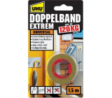 Uhu Doppelband Extrem 120 kg super pevná obojstranná lepiaca páska do interiérov i exteriérov 1,5 m