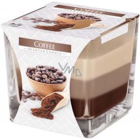 BISPOL Coffee - Káva trojfarebná vonná sviečka sklo, doba horenia 32 hodín 170 g