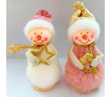 Snehuliak plyšový 15 cm na postavenie 1 kus