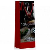 Nekupto Darčeková papierová taška na fľašu 10 x 33 x 9 cm Pohár vína 1899 30 KFLH