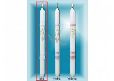 Lima Kostolné krstné sviečka biela so zlatým zdobením č. 1001 25 x 360 mm 1 kus