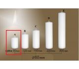 Lima Gastro hladká sviečka biela valec 60 x 90 mm 1 kus