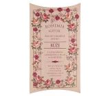 Bohemia Natur Růže s glycerinem a extraktem z bylin ručně vyráběné toaletní mýdlo v papírové krabičce 100 g