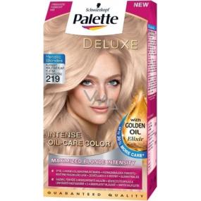 Schwarzkopf Palette Deluxe Intense Oil Care Color farba na vlasy 219 Platinový perleťovo plavý