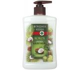 Bohemia Gifts & Cosmetics Kokos tekuté mýdlo s kokosovým a olivovým olejem 500 ml