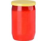 Náhrobná olejová sviečka červená žlté viečko 29 hodín 100 g