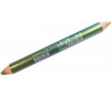 Princessa Davis Eye Double Colour očné tiene v ceruzke 04 svetlo zelená a tmavo zelená 6 g