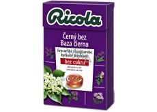 Ricola Čierny bez švajčiarske bylinné cukríky bez cukru s vitamínom C z 13 bylín 40 g