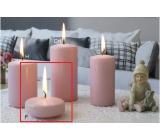 Lima Ice pastel sviečka ružová plávajúca šošovka 70 x 30 mm 1 kus