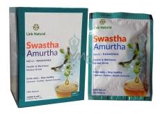 Swastha Amurtha bylinný nápoj na prechladnutie, imunitu, pečeň, kĺby, trávenie, dýchacích ciest, močových ciest, duševné i fyzické pohody sáčky 7 x 4 g