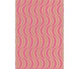 Ditipo Darčekový baliaci papier 70 x 200 cm KRAFT Ružové ornamenty