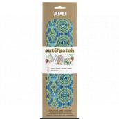 Apli Cut & Patch papier na servítkovú techniku Zeleno-modrý motív 30 x 50 cm 3 kusy