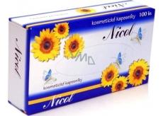 Nicol kosmetické kapesníky v krabičce 100 kusů