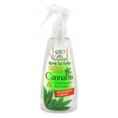 Bione Cosmetics Bio Cannabis sprej na nohy s dezinfekční a změkčující přísadou 260 ml