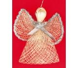 Anjel so strieborným lemom na krídlach 9 cm
