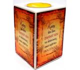 Nekupto Keramický svícen 013 Každý kdo chce změnit sen ve skutečnost, musí nejdříve procitnout 9 x 6 cm