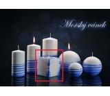 Lima Aromatická špirála Morský vánok sviečka bielo - modrá kocka 65 x 65 mm 1 kus