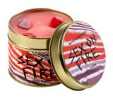 Bomb Cosmetics Ohnivá vášeň Vonná prírodné, ručne vyrobená sviečka v plechovej dóze horí až 35 hodín